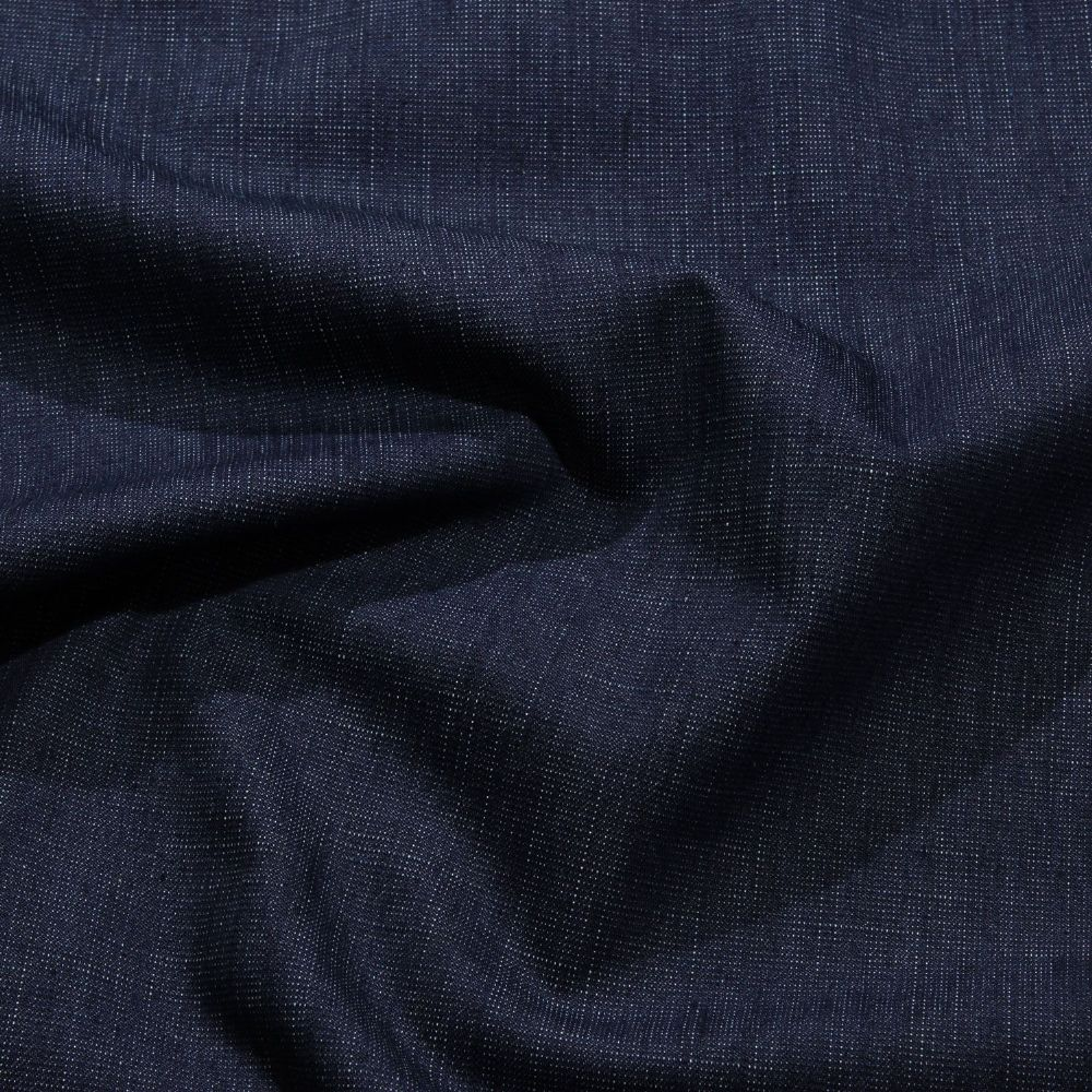 Denim - Barkweave - Dark Blue Stretch - per quarter metre